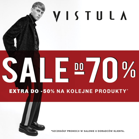 SALE DO -70% W SALONIE VISTULA!